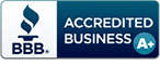 Accredited with the BBB since 1991 with an A+ rating.